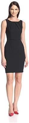 Society New York Women's Pleated Neckline Sheath Dress