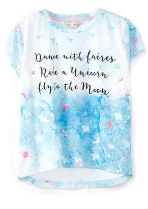 Yumi Girls Slogan Galaxy T-Shirt