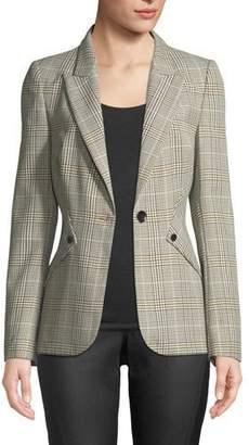 Elie Tahari Allegra Glen Plaid One-Button Jacket
