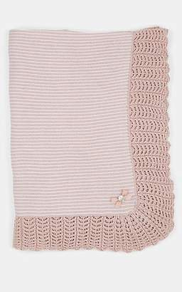 Paz Rodriguez Striped Wool Baby Blanket - Pink