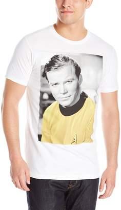Hybrid Men's Star Trek Kirk Photo Short Sleeve T-Shirt