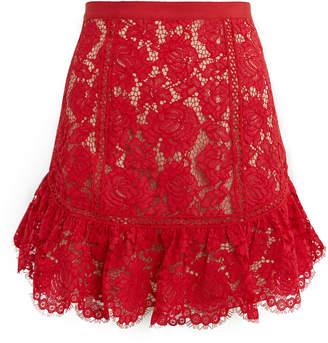 Saylor Elise Lace Mini Skirt