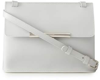 Lancaster Light Grey Leather 'Lilly' Cross Body Bag