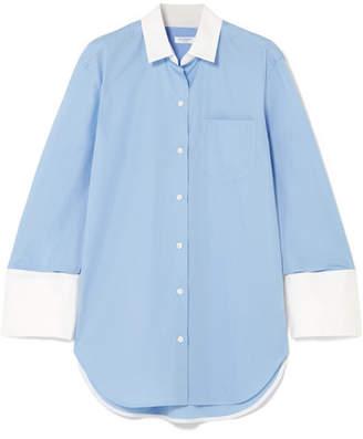 Equipment Clarke Two-tone Cotton-poplin Shirt