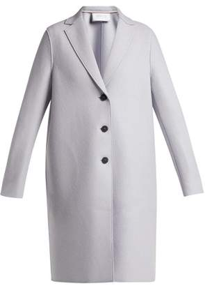 Harris Wharf London Single Breasted Pressed Wool Car Coat - Womens - Light Grey