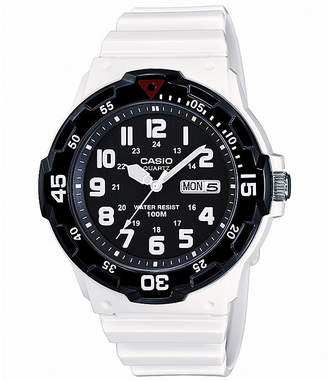 Casio Mens White Resin Strap Diver Sport Watch MRW200HC7BOS
