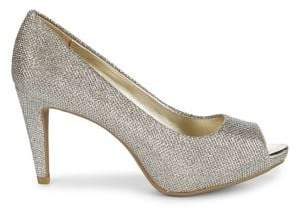 Bandolino Rainaa Metallic Peep Toe Pumps