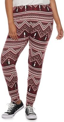 d4fc57c4f9ecfc So Juniors' Plus Size SO Hatchi Holiday Leggings