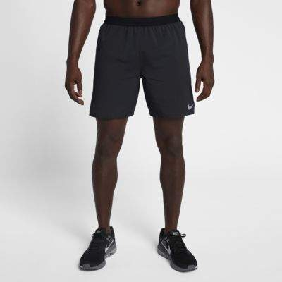 "Nike Nike Distance Men's 7"" Unlined Running Shorts Size Small (Black)"