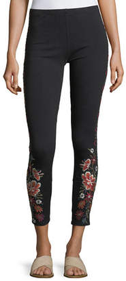 Johnny Was Waleska Embroidered Leggings, Plus Size $125 thestylecure.com