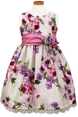 Girl's Sorbet Floral Print Crochet Hem Dress $56 thestylecure.com