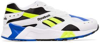Reebok multicoloured Aztrek faux leather low top sneakers
