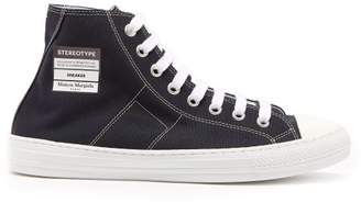 Maison Margiela Stereotype Canvas High Top Trainers - Mens - Dark Blue