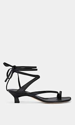 Derek Lam Women's Sirene Leather Ankle-Tie Sandals - Black, Noir