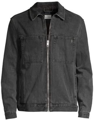 0804db208c2 Ksubi Opposite of Opposite Werker Zip Front Denim Jacket