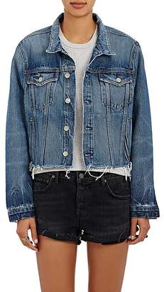 GRLFRND Women's Cara Crop Trucker Jacket