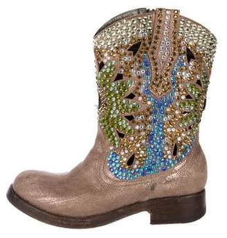 Giancarlo Paoli Metallic Western Boots