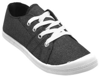 BLUE SUEDE SHOES Blue Mikaela Fabric Clasic Tenis Shoes for Women Black and Navy