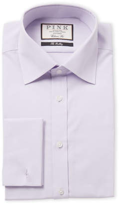 Thomas Pink Lilac Solid Classic Fit Dress Shirt
