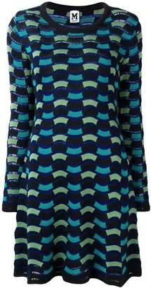 M Missoni geometric knitted dress