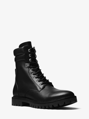 Michael Kors Wilder Leather Combat Boot