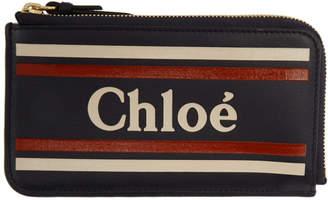 Chloé Black Vick Zipped Card Holder