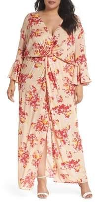 ELVI The Stasis Wrap Maxi Dress