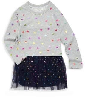 Pinc Premium Little Girl's Star-Print Dress