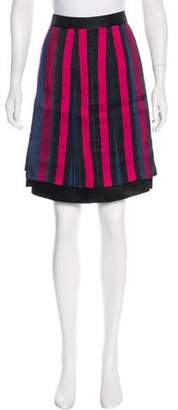Marc Jacobs Striped Knee-Length Skirt