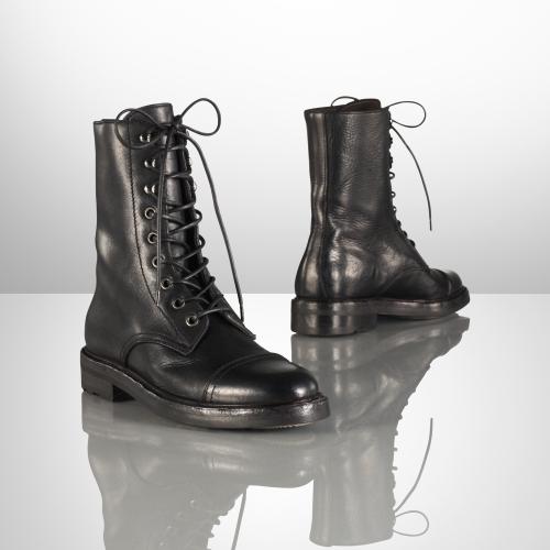 Ralph Lauren Macomb Calf Lace-Up Boot