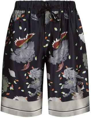 Meng Floral Print Silk Shorts