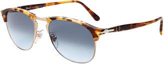 Persol PO8649 Madreterra Round Half-Rim Sunglasses