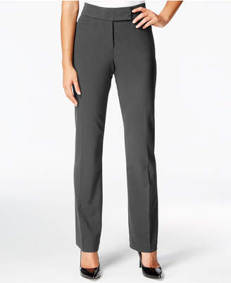 JM Collection Petite Tummy-Control Extend-Tab Curvy-Fit Pants