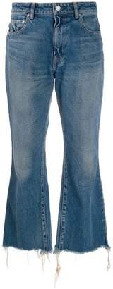 John Elliott cropped bootcut jeans