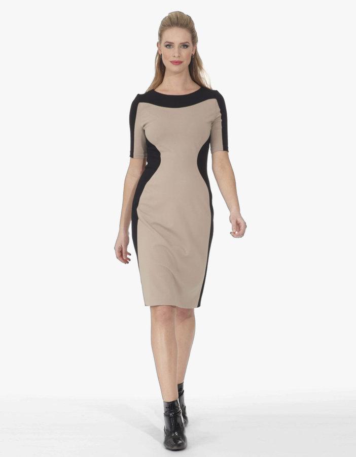 NUE BY SHANI Matte Jersey Colorblock Dress