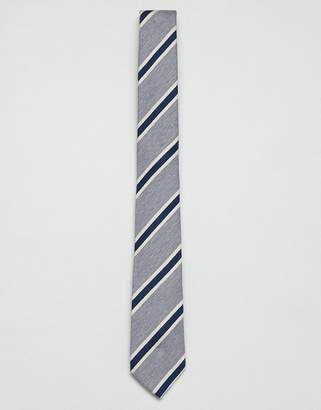 Jack and Jones Stripe Tie In Grey