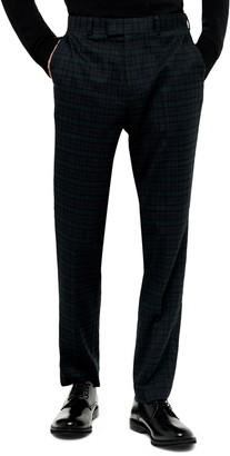 Topman Bampton Check Skinny Fit Suit Pants
