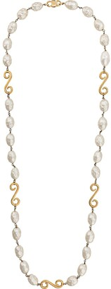 Celine Pre-Owned 1980/1990's pearl embellished necklace