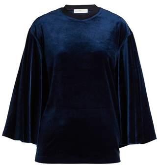 Toga Flared-sleeves velvet top