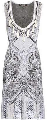 Roberto Cavalli Tasseled Jacquard-Knit Dress