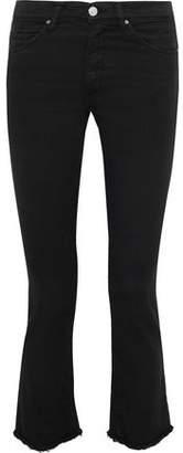 IRO Jula Frayed Mid-Rise Kick-Flare Jeans