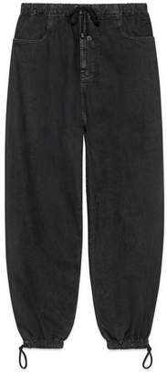 Gucci Washed cotton track bottoms