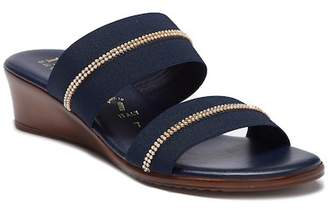 Italian Shoemakers Jewel Embellished Wedge Sandal