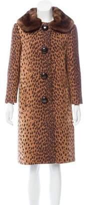 Michael Kors Mink-Trimmed Wool Coat