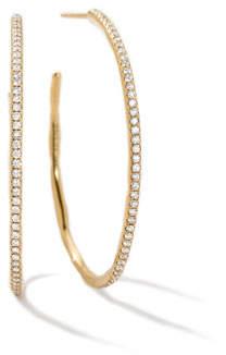 Ippolita Stardust Large 18K Diamond Hoop Earrings