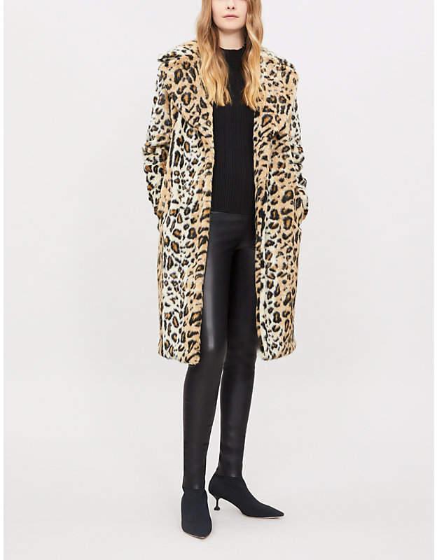 KENDALL & KYLIE Leopard-print faux-fur coat