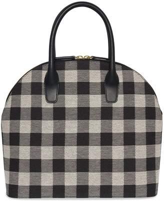 Mansur Gavriel Checker Top Handle Rounded Bag - Black