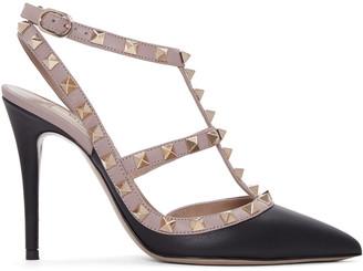 Valentino Black & Pink Rockstud Cage Heels $995 thestylecure.com