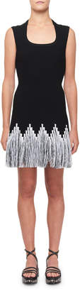 Alaia Raffia-Fringe Cocktail Dress