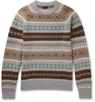 J.Crew Alta Fair Isle Wool Sweater
